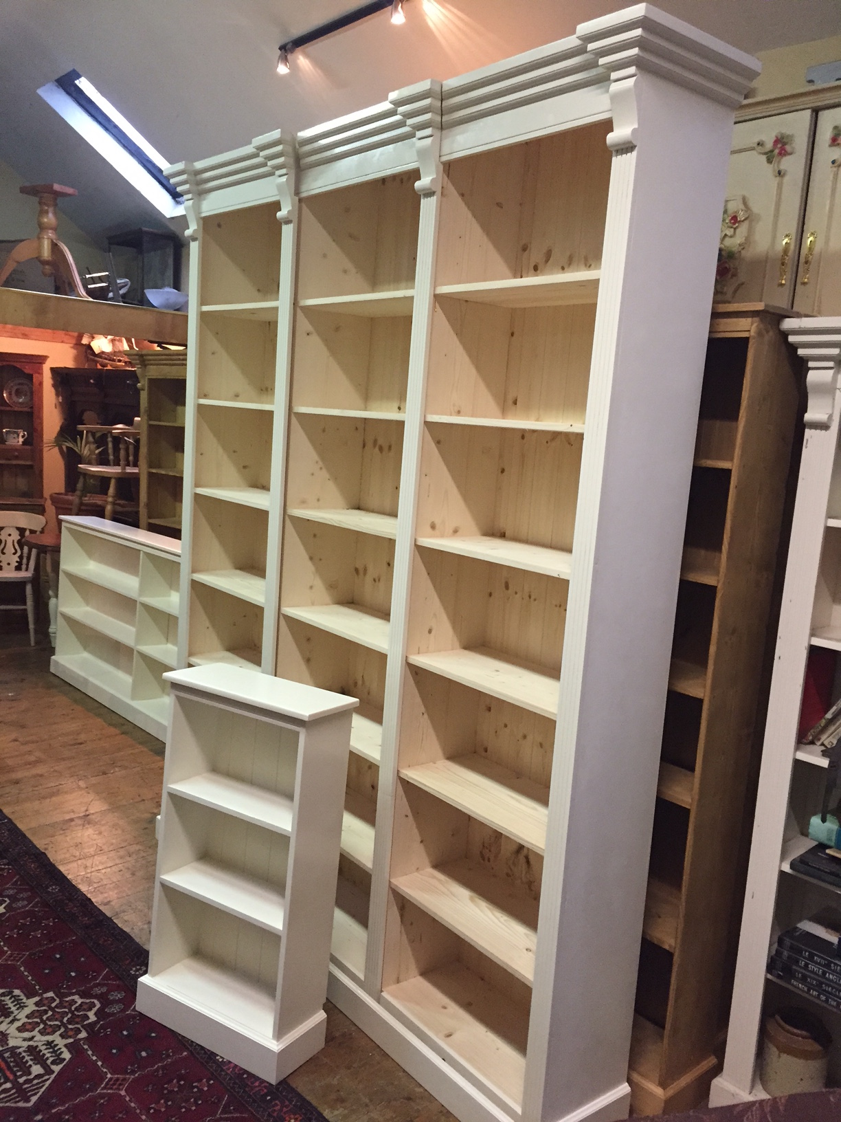 Bookshelves made to any size