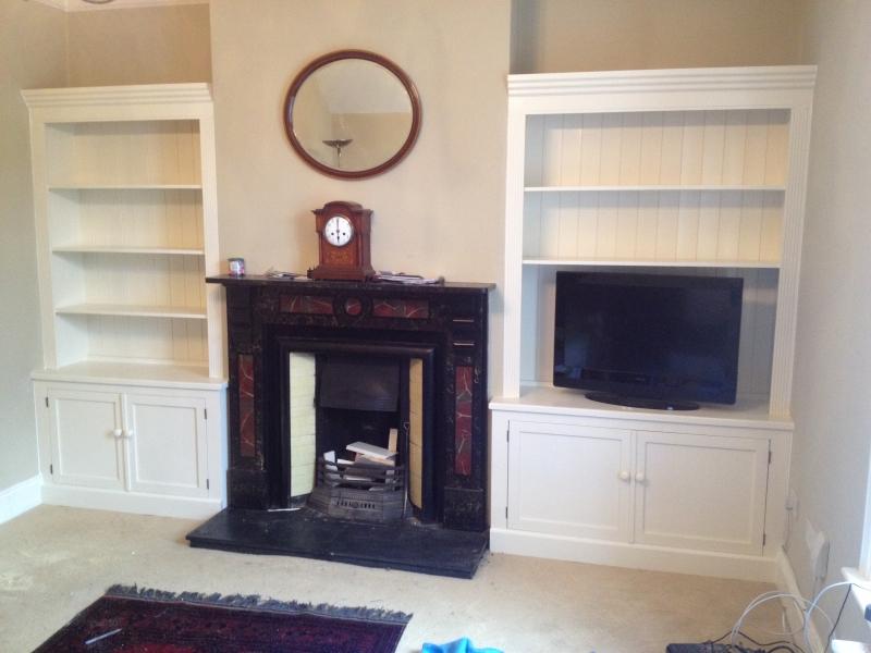Furniture maker christy bird 39 s for Built in units for living room ireland